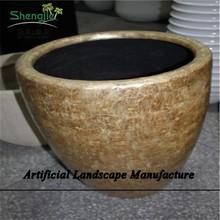 SJZJN 967 Creative Fiberglass Planter Flower Pots High Quality