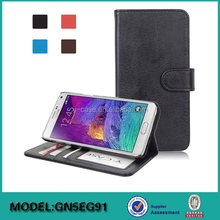 Wholesale flip leather case for Samsung Note 5 edge , Wallet stand Leather Case for Samsung Note 5 edge