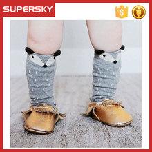 A-273 Baby Girl Boy Animal Leg Warmers Children High Fox Boot Socks Baby Fox Knee Cotton Socks