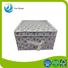 new product big oblong 210D polyester multifunctional hall folding storage bins with lids