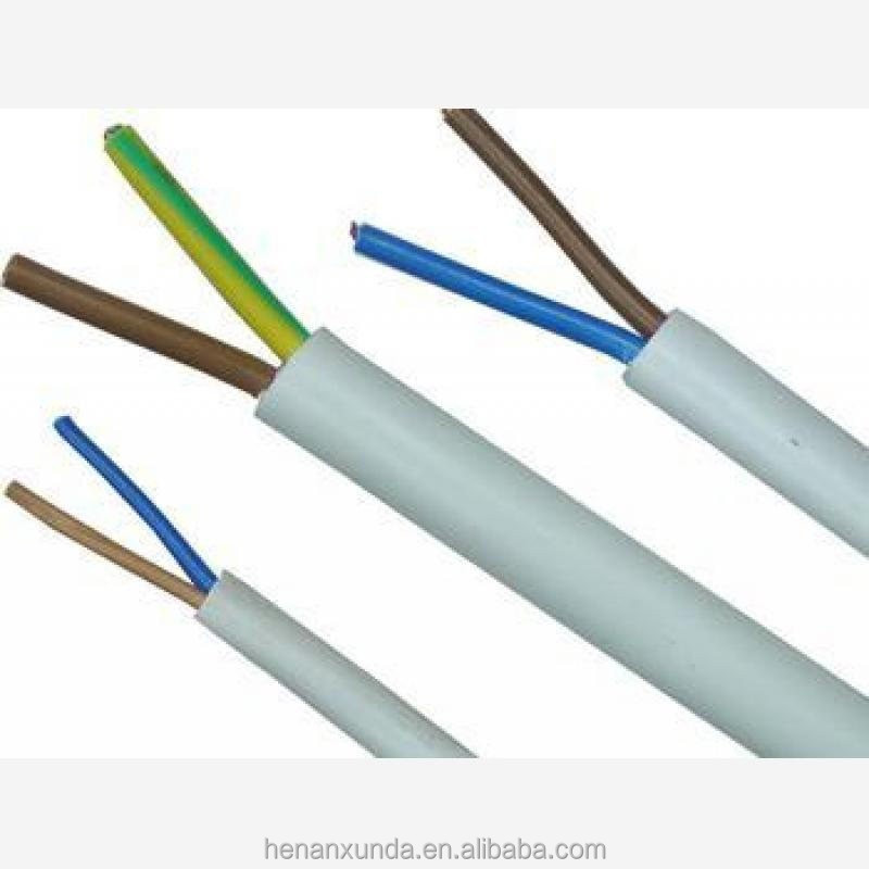 Flat Conductor Cable : Copper conductor pvc insulated sheathed flat cable rvvb