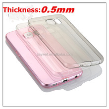 ultra thin transparent TPU phone case for Samsung galaxy S6