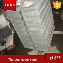 polished black granite g684 pool cover plate