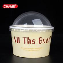 özel harcanabilir pe kaplı dondurma/dondurulmuş yoğurt kabı kapaklı