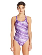 Women's Twinkly Drop Back Performance One Piece Swimsuit Bikinis