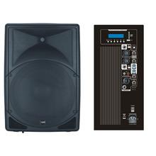 "Woofer 300w poder 15"" caixa de som ativa amplificador de áudio de gabinete"