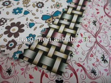 pu artificial leather with flower printing for bag, pu bag leather goods