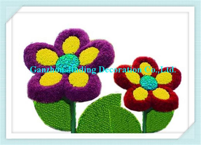 Evergreen garden decoration artificial cartoon flowers topiary
