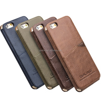 QIALINO 2015 Top quality simple style pure handmade genuine Leather back cover case For apple iPhone 6