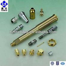 High Precision CNC Steel Yellow Zinc Plated Turning Part, China Machanical Manufactory