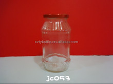425ml pickle glass jars with metal ids