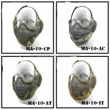 New Enhanced V2 earmuffs wire mesh mask Outdoor BB gun battle tactics mask To protect and disguise the face and ear Digital Camo
