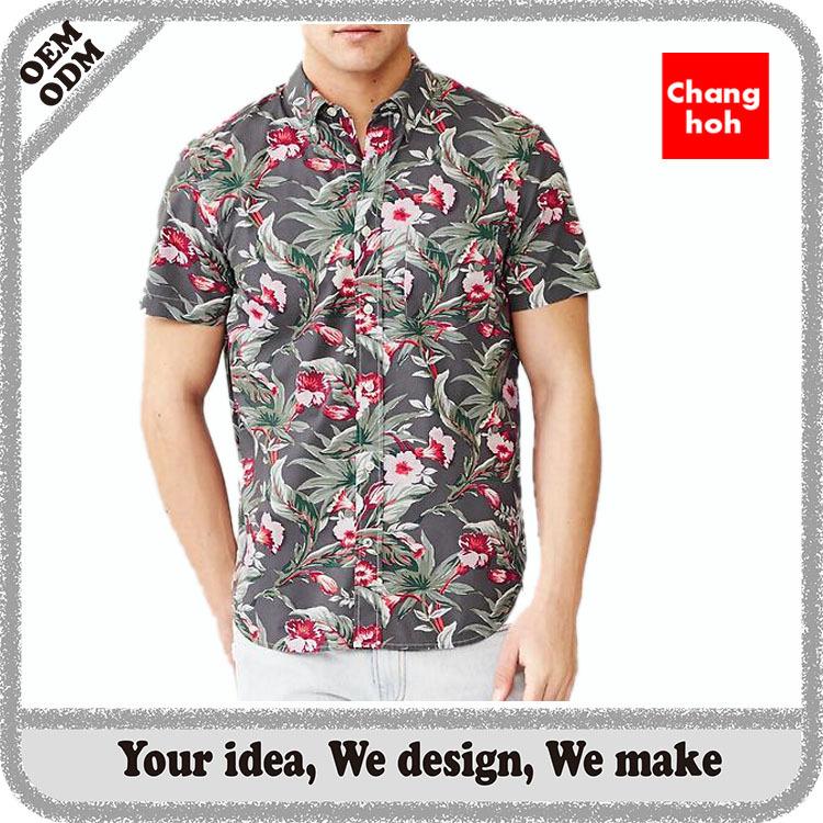 Custom printed mens hawaiian shirt wholesale buy for Custom printed t shirts in bulk