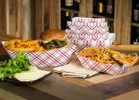 Recycled Fast Food Paper Cardboard Food Tray for hot dog