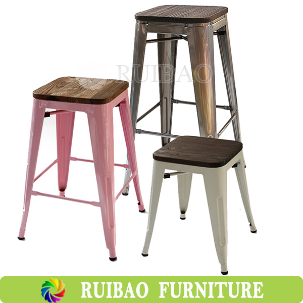 Stackable Wood Stools ~ Stackable counter stool outdoor used old finishing and