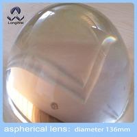 Diameter 136mm optical glass aspheric plano convex lens