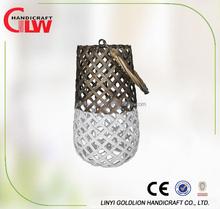 Large garden wicker lantern,Handicrafts candle holders