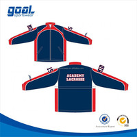 Wholesale 100 polyester dri fit sports lacrosse sublimation printing custom basketball jackets