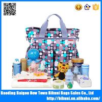 Hot sale custom oem women tote handbag waterproof high quality large nanny diaper bag for baby
