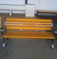 park bench garden chair