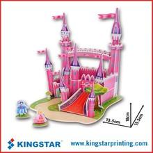 3D DIY handmade toys puzzle jigsaw,safe Non-toxic foam paper model,promotion paper model