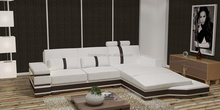 Modern easy home furniture simple design room sectional leather sofa set furniture 205B
