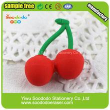 Japonês frutas e vegetais Shped 3D borrachas de lápis