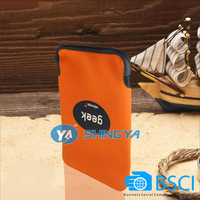 Hot selling solid color neoprene tablet PC laptop sleeve with customized size