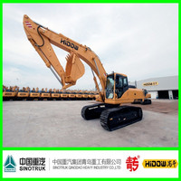 Construction machinery, 12.5 ton wheeled/crawler excavator for road, bridge, river build, mountain exploit, etc.