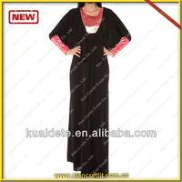 2014 Latest Dubai Abaya Islamic Abaya Designs Dubai Abaya for Women KDT528 with lowest price