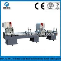 Two head miter cutting saw machine for PVC profile