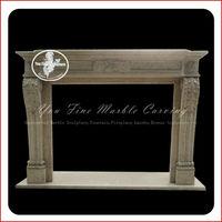 Freestanding gas sculpture stone fireplace