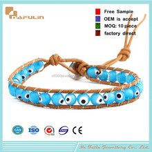 [Nafulin]Hot new products 2015 Latest Fashion Handamde Colorful Diy Evil Eye Woven Bracelet