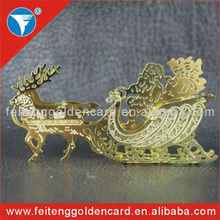 Handcrafted 3D Metal Pierced sika deer Christmas ornaments