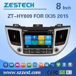 8 inch car dvd player for Hyundai Tucson 2016 car parts genuine spare parts car gps player with GPS DVD USB/SD AM/FM