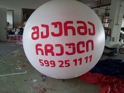 inflatable floating mars with helium air balloon / inflatable giant helium balloons