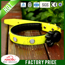 led dog collar/solar led dog leash and collar for dog training in the evening