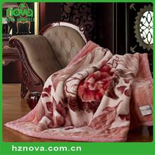 Hot selling 100% woven acrylic blanket