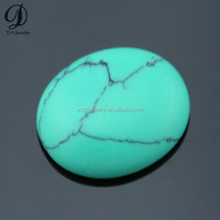 China supplier best synthetic oval shape green turquoise