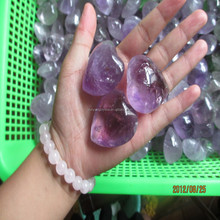 2015 newest Natural Amethyst Crystal healing Heart rocks Carving for Holiday Gifts