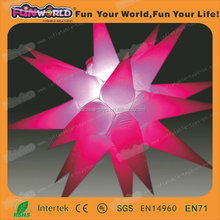 Pop Party white decoration led light inflatable stars