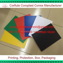 white fire retardant corrugated plastic sheet