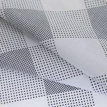 100% cotton print fabric cotton poplin for shirt dot square pattern