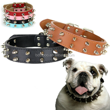 fancy design top quality spiked leather dog collars