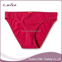 Hot sale sexy red cotton panties