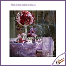 k6916 hot sale Puff Wave Chiffon Fabric Fancy Table Cloth For Wedding