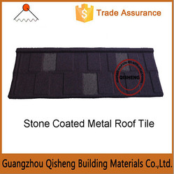 Steel shingles with color stone coated on/Zinc roof tile called stone coated metal roof tile
