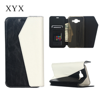 durable custom cell phone case for sumsung j7, leather flip cover for samsung galaxy j7