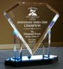 plastic bowling trophy acrylic crystal trophy