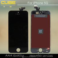 100% Good Quality For Apple iphone 5 LCD Touch Screen Display Digitizer Assembly White / Black Color